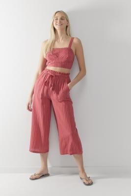 Urban Outfitters Sophia Tie-Front Cropped Trousers - Assorted XS at
