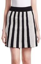 Maje Jasper Herringbone Skirt
