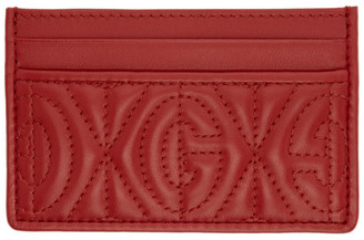 Gucci Red G Rhombus Card Holder