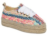Manebi Women's Ibiza Lace-Up Platform Espadrille