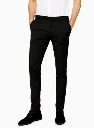 Topman Black Super Skinny Fit Smart Trousers