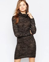 B.young High Neck Glitter Bodycon Dress