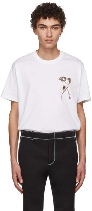 Givenchy White Flower Brooch T-Shirt