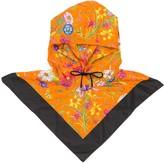 Gucci floral print anorak hat