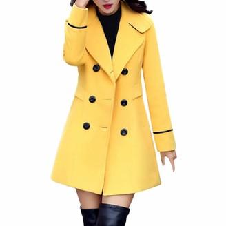 NEEDRA Women Wool Double Breasted Coat Elegant Long Sleeve Work Office Fashion Jacket
