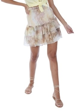 Allison New York Women's Tie Dye Smocked Mini Skirt