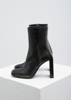 Yang Li Black Rounded Square Toe Boot