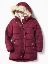 Old Navy Frost Free Long Hooded Jacket for Girls
