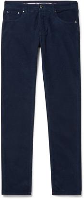 Isaia Stretch Cotton-Corduroy Trousers