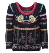 Roberto Cavalli Lion Print Knitted Sweatshirt