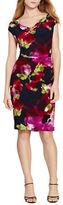 Lauren Ralph Lauren Petite Floral Printed Sheath Dress