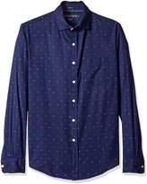 U.S. Polo Assn. Men's Long Sleeve Slim Fit Dotted Swiss Button Down Sport Shirt