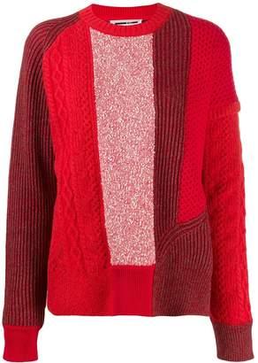 McQ panelled knit jumper
