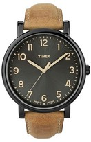 Timex Originals Watch with Leather Strap - Black/Tan T2N6772B