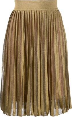 Alberta Ferretti Pull-On Knitted Skirt