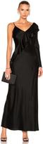 Diane von Furstenberg Asymmetrical Ruffle Gown