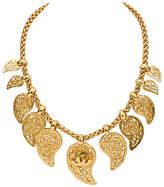 One Kings Lane Vintage Chanel Satin Gold Choker