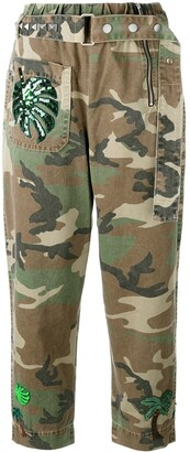 Marc Jacobs Camouflage Print Belted Trousers