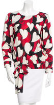 Moschino Printed Sash Tie-Accented Top
