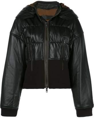 Haider Ackermann Cropped Leather Bomber Jacket