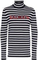 Balmain striped logo printed jumper