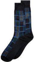 Perry Ellis Men's Geometric Socks