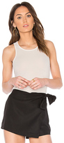 David Lerner Racer Front Tank in Cream. - size L (also in S)