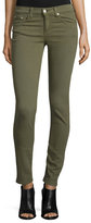 Rag & Bone Low-Rise Distressed Skinny Jeans, Army