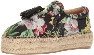 J/Slides Women's Rosa Fashion Sneaker Black/Multi 7.5 US/US Size Conversion M US