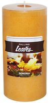 """SONOMA Goods for LifeTM 6"""" x 3"""" Falling Leaves Pillar Candle"""