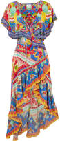 Camilla Rio Crystal-embellished Printed Silk Crepe De Chine Maxi Dress - Blue