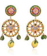 Dolce & Gabbana Circle Drop Lemon Earrings