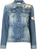RED Valentino bird patches denim jacket - women - Cotton - 42