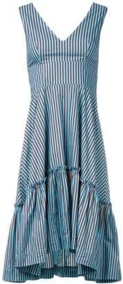 P.A.R.O.S.H. striped ruffle dress