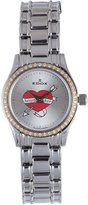 "Edox Women's 31158 318D A Les Genevez Silver Polished Stainless Steel Diamond ""HEARTBRAKER"" Watch"