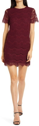 Lulus Take Me to Brunch Lace Shift Dress