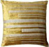 Kevin OBrien Kevin O'Brien Stripe Velvet Pillow-GOLD