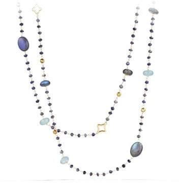 David Yurman Bijoux Bead Necklace With Labradorite And Milky