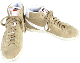Nike Beige Suede Trainers