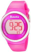 Roots Cayley Women's Resin Strap Digital Chronograph Watch with EL Backlight and Alarm
