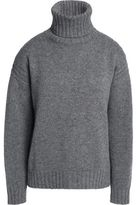 Duvetica Shell-Trimmed Cashmere Turtleneck Sweater