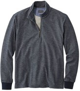 L.L. Bean L.L.Bean Signature French Terry Pullover, Quarter-Zip, Long Sleeve, Slim Fit