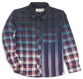 Sovereign Code Boys' Gradient Plaid Stripe Shirt - Little Kid