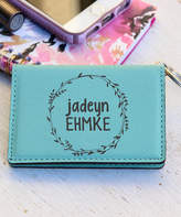 Stamp Out Key Chains Teal - Teal Wreath Personalized ID Key Chain