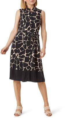Hobbs Suzanna Print Sleeveless Shirtdress