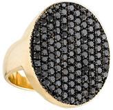 Jennifer Fisher Pavé Black Diamond Oval Signet Ring