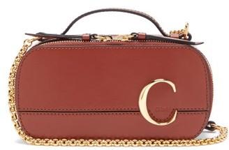 Chloé The C Mini Leather Cross-body Bag - Womens - Dark Brown