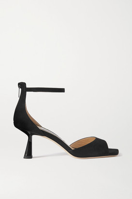 Jimmy Choo Reon 65 Suede Sandals - Black