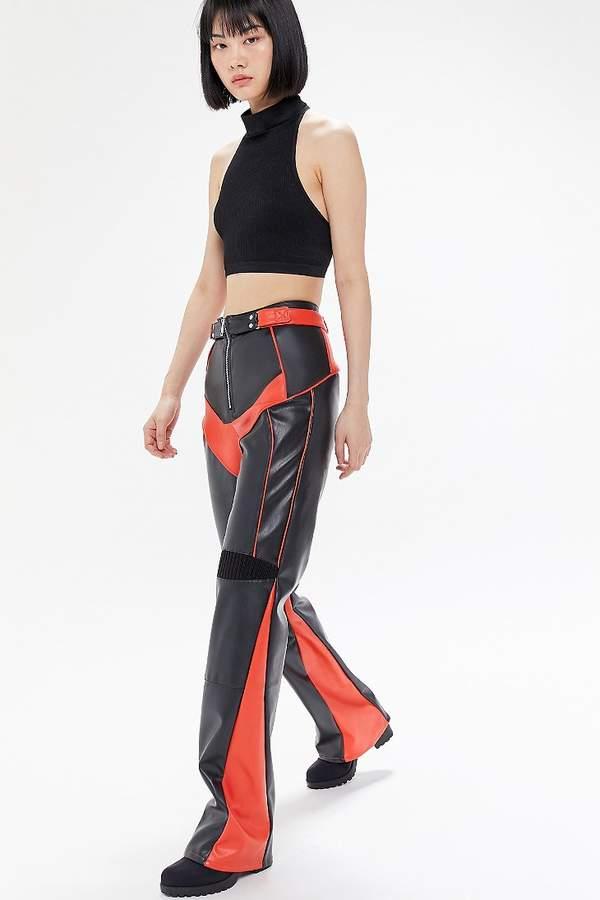 2d87439ed1d26 Black Faux Leather Straight Leg Pants - ShopStyle