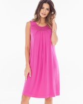Soma Intimates Neckline Detail Short Swing Dress Rose Violet
